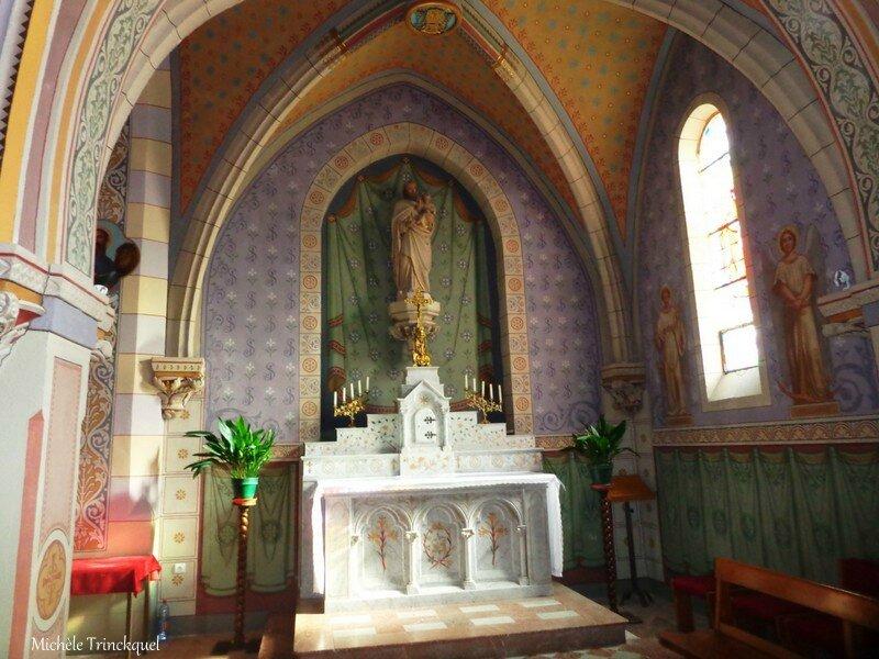Etang de la Glacière, Eglise et fontaine de Laluque 291016