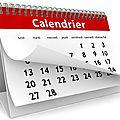 Le calendrier 2015 / 2016
