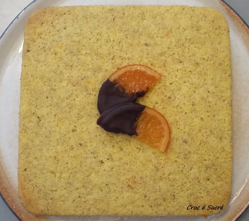 Gateau semoule orange 2