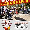 Ecretteville-les-baons 28 septembre 2019: concours de boules cauchoises.