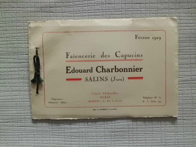catalogue Charbonnier 1929