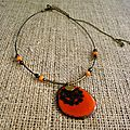 ras de cou tagua orange web