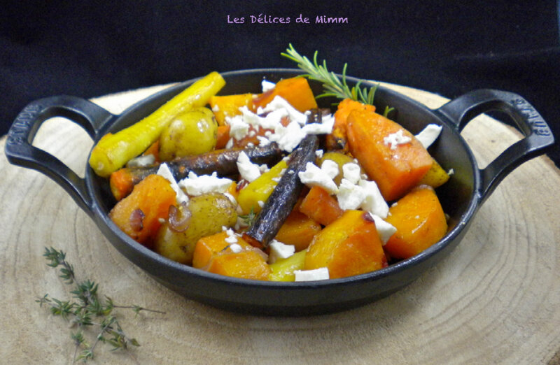 Légumes d'automne confits au four à la feta et au sirop d'érable 4