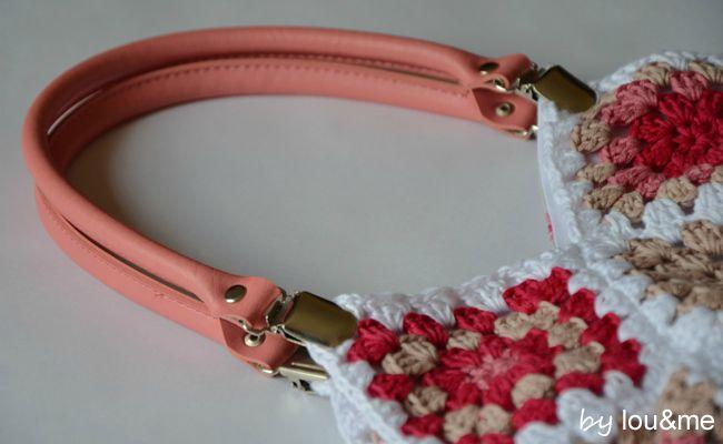 sac crochet rose lou&me 2