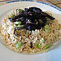 Civet de tentacules risotto a l'ail