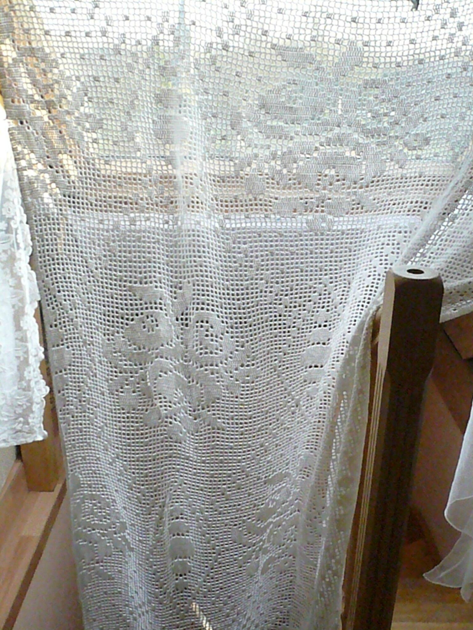 Merveilleux rideaux/panneaux ancien-fait main authentique- AMANDIER