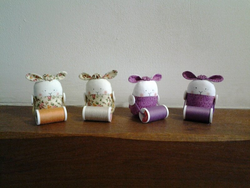 Lapins porte bobine