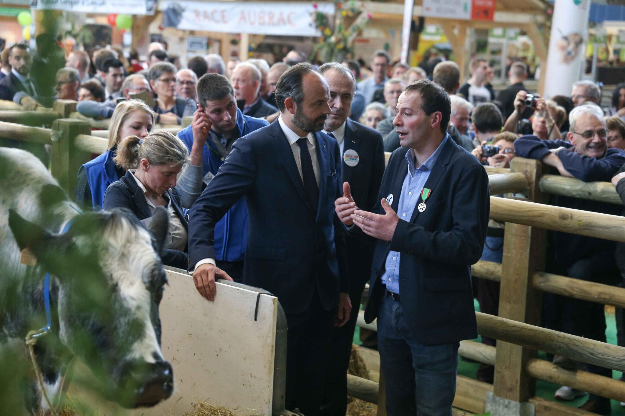 Édouard Philippe passe au Salon de l'Agriculture durant 3 jours. © Michel Stoupak. Mer 27.02.2019, 16h53m47.
