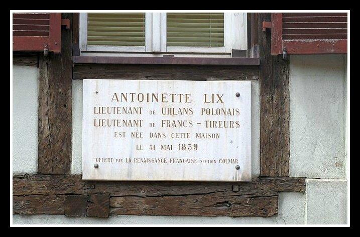Marie-Antoinette Lix plaque commémorative