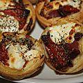 Tartelette au chèvre et tomates séchées