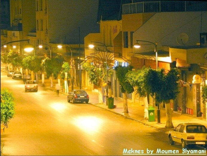 Avenue Mohammed 5 La nuit