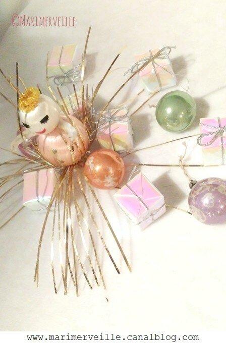 Décorations de Noël années 50 irisées vintage - Marimerveille