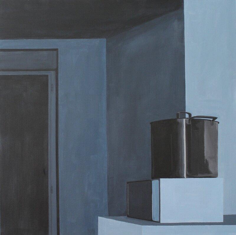 Rangement, acrylique sur toile, 70x70cm, 2017, léger