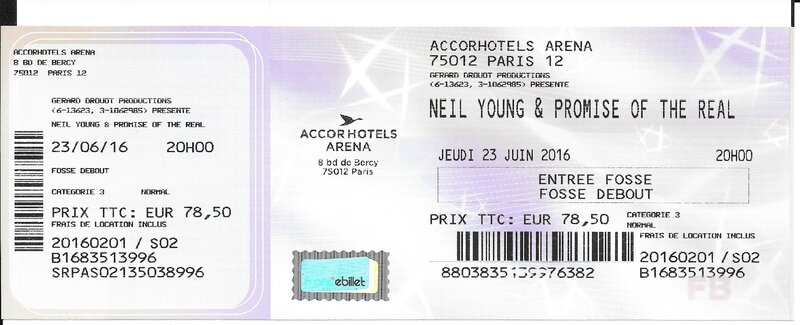 2016 06 23 Neil Young AccorHotels Arena Billet