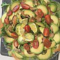 Salade express' saumon avocat