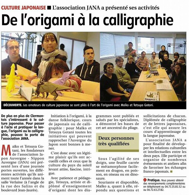 s-article de journal La montagne 27092013