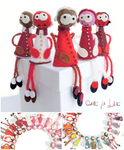 broche_fantaisie_ bijoux feutrine_bijoux laine_collection rouge_damelalune_shop