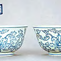 A pair of blue and white bowls, Chenghua mark and period; image courtesy of the National Palace Museum, Taipei