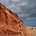 La plage des falaises de l'algarve