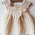 Tutoriel d'une robe bébé au crochet