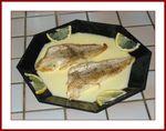 Filet de merlan et sa sauce au beurre citronné
