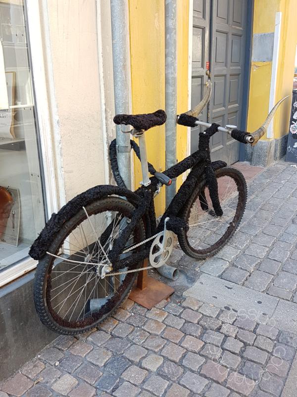 Copenhague, Sankt Peders Stræde, vélo viking