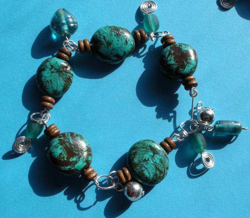 bracelet turquoise pendouilles carole vue 1