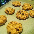 Cookies purée de cacahuète/pépites de chocolat (végan)