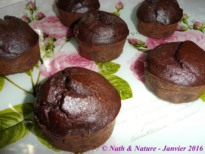 Muffins fondants au chocolat healthy - 2