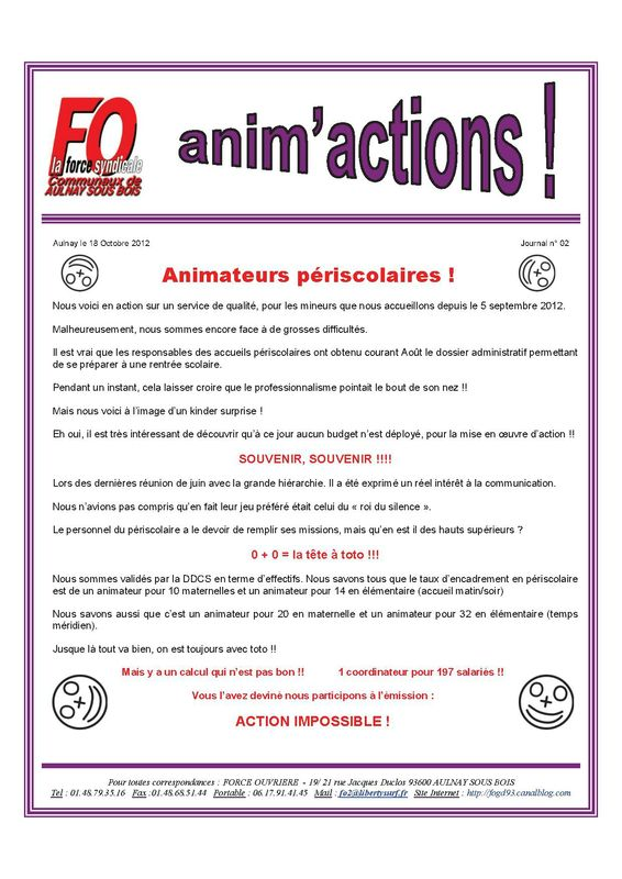 Aulnay animperisco JOURNAL N° 02