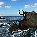 San sebastian / sculptures de chillida (peigne du vent ) et oteiza
