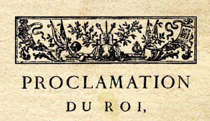 Le 29 novembre 1790 à Mamers : enregistrement de lois.