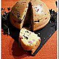 Cake au vin blanc et olives