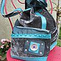 sac polochon avec trousse - sac VENDU -trousse 30€-DISPONIBLE