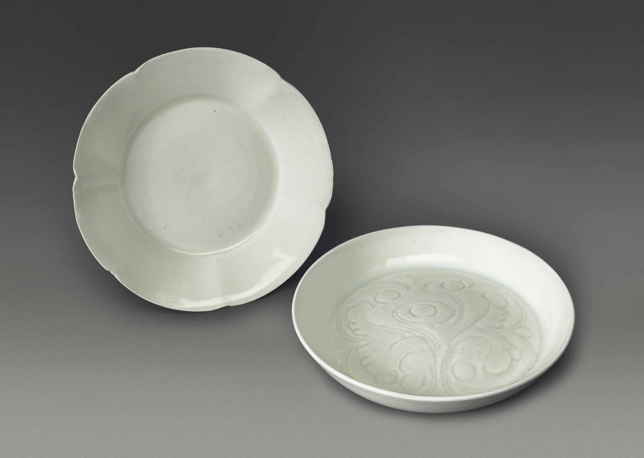 A small Dingyao flower-form dish, Northern Song dynasty (960-1127)