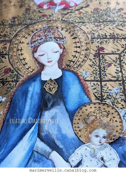 La Vierge au Buisson de Roses - création ©Marimerveille 1