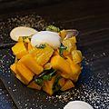 Tartare mangue ananas au basilic et