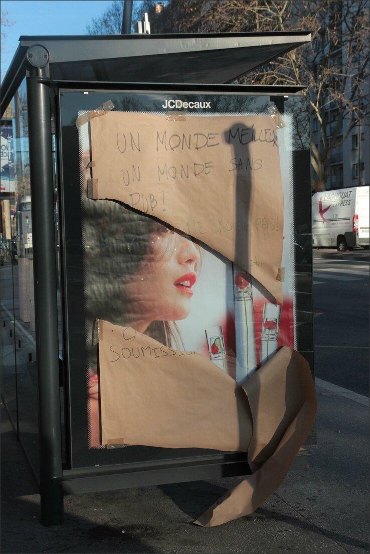 Toulouse antipub affiche dechiree visage