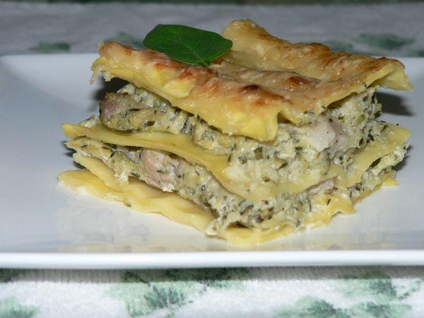 lasagne courgette chevre ricotta