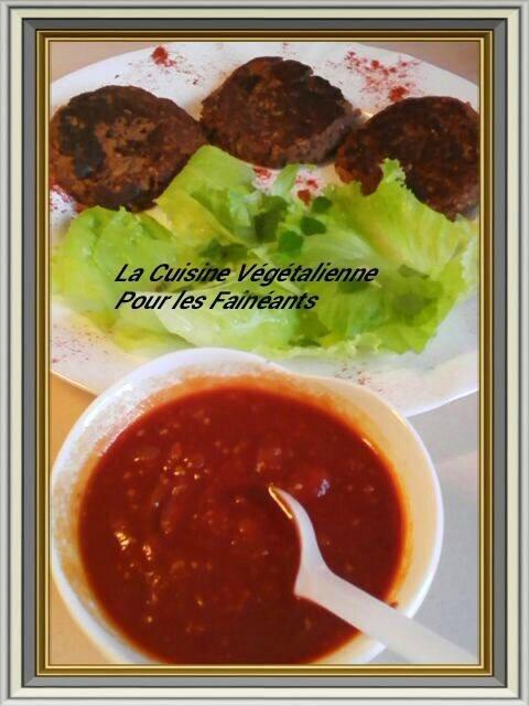 burger azuki & sauce bbq