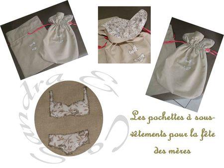 pochettes à sous-vêtements fête des mères