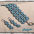 118 bracelet cherry blossom latice bleu et ses bo
