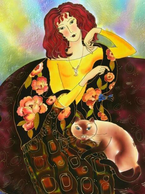 Girl In Russian Shawl ~ Yelena Sidorova
