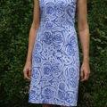 robe droite satin de coton bleu. 2008