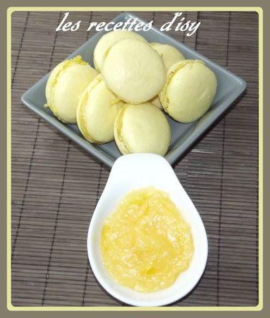macaron au lemon curd
