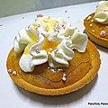 Tartelettes sablées à la crème d'amande - gingembre