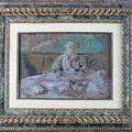 Edouard vuillard (1868-1940) mme vuillard à table, circa 1903
