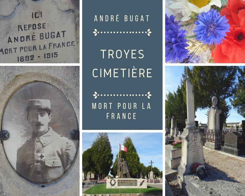 TROYES Cimetière_les chapelles en péril_mort pour la France_André BUGAT