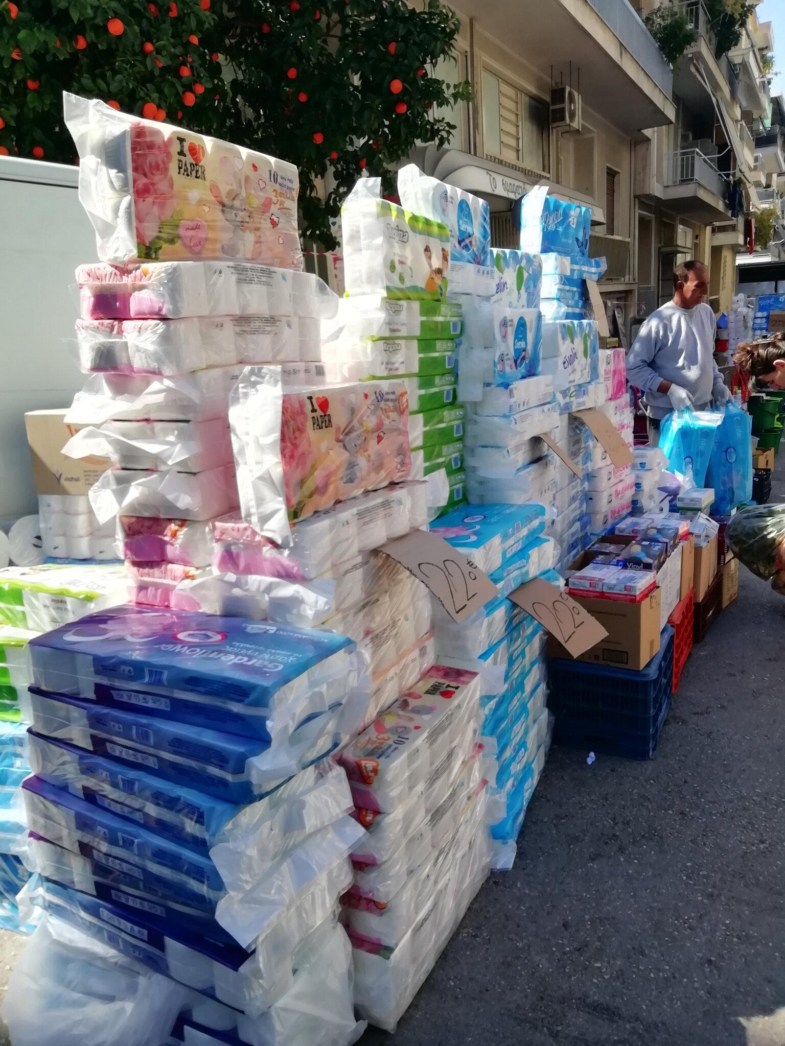 Sur le marché d'Athènes
