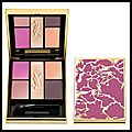 Palette pure chromatics pivoine crush - 5 fards à paupières - spring look 2014 - yves saint laurent